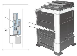 بررسی پورتهای ارتباطی بین کامپیوتر و دستگاه کپی کونیکا مینولتا