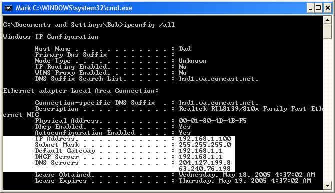 تشخیص آدرس شبکه IP address در کامپیوتر متصل به دستگاه کپی برادر