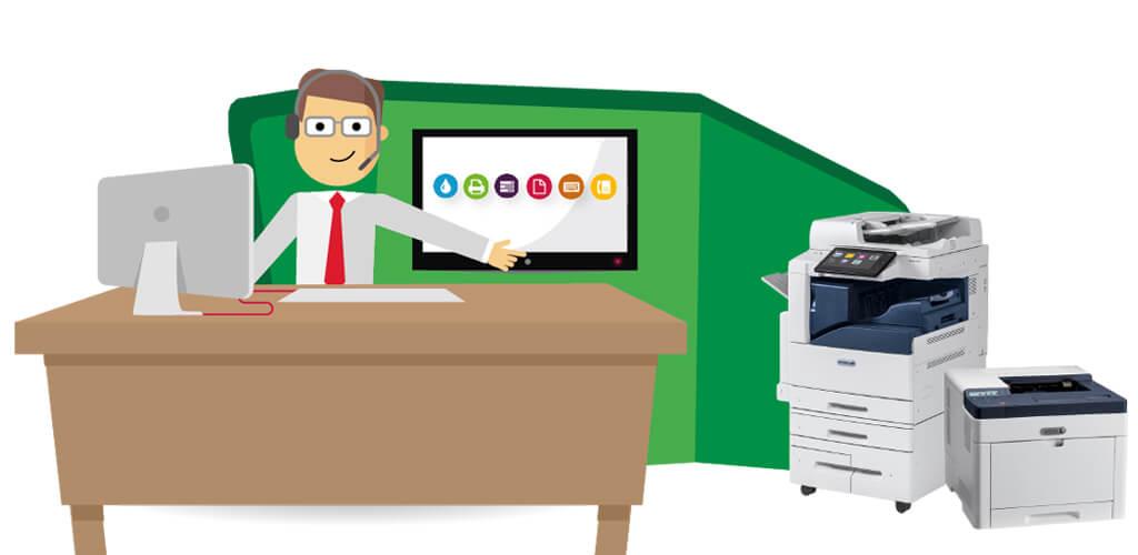 صرفه جویی در فضای دفتر کاری|مزیت دستگاه کپی همه کاره