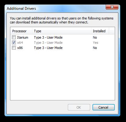 نصب دستگاه کپی برادر در ویندوزهای 64 بیتی بصورت Sharing