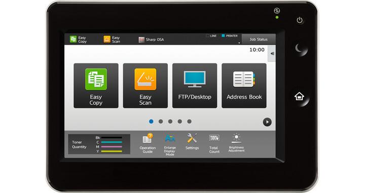 نمایش وضعیت دستگاه کپی شارپ سری MX