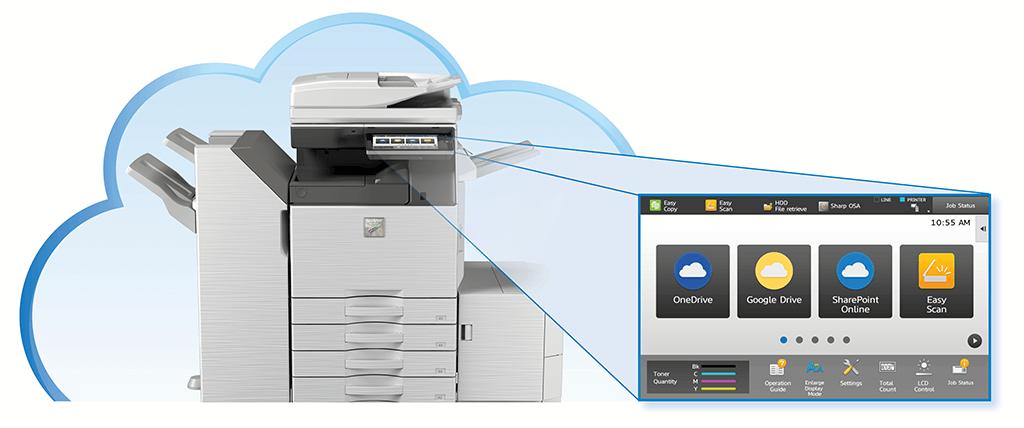 ویژگی دستگاه فتوکپی شارپ ذخیره سازی در فضای ابری Cloud Sharp