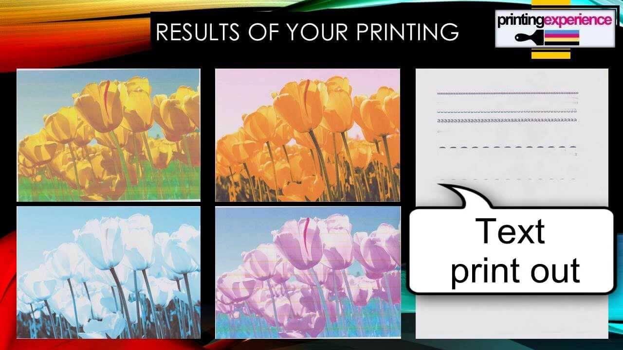 کیفیت پایین چاپ در دستگاه کپی رنگی توشیبا