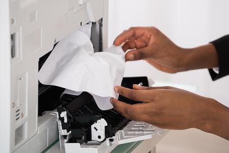گیر کاغذ در دستگاه فتوکپی شارپ