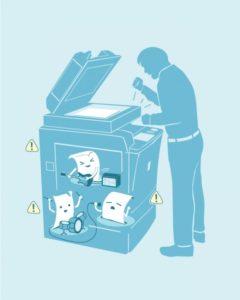 شلوغ و مسدود شدن چاپگر|مشکلات رایج دستگاه های کپی و چگونگی رفع آنها