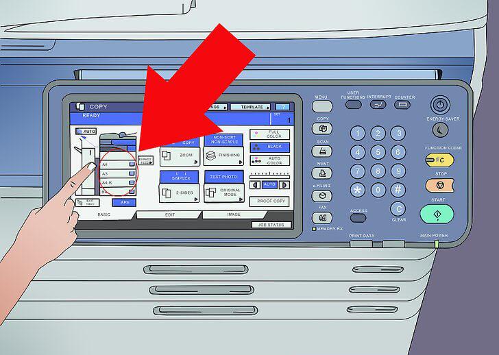 اندازه کاغذ در خرید یک دستگاه فتوکپی